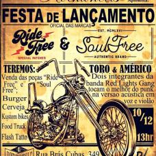 Affiche lors d'un évènement au Brésil