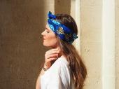 Headband bleu comme l'océan