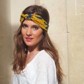 Headband bleu et jaune