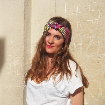 Headband rose et jaune